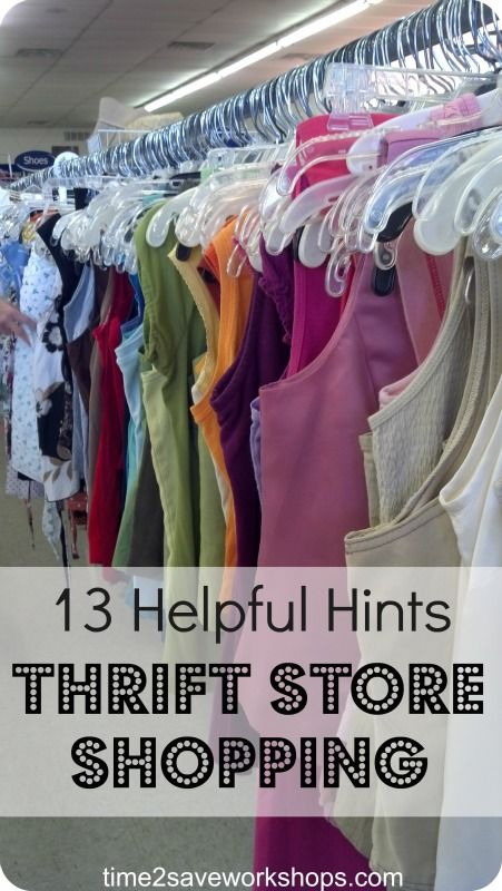 13 helpful hints for thrift store shopping.... I never new thrift stores had SALES!