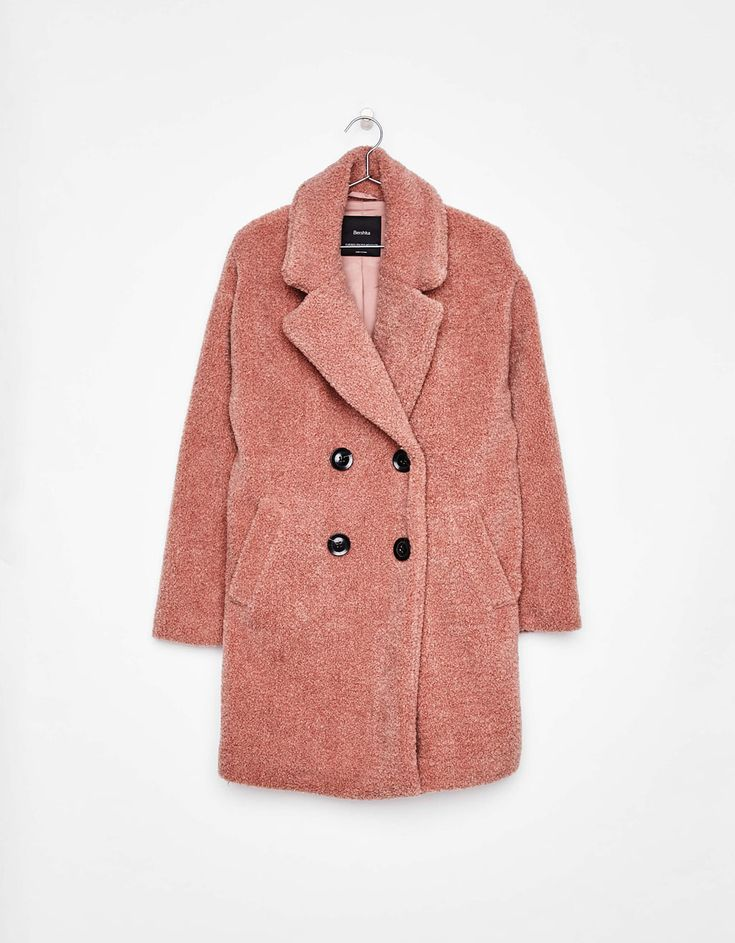 Manteau imitation peau de mouton - Manteaux - Bershka France