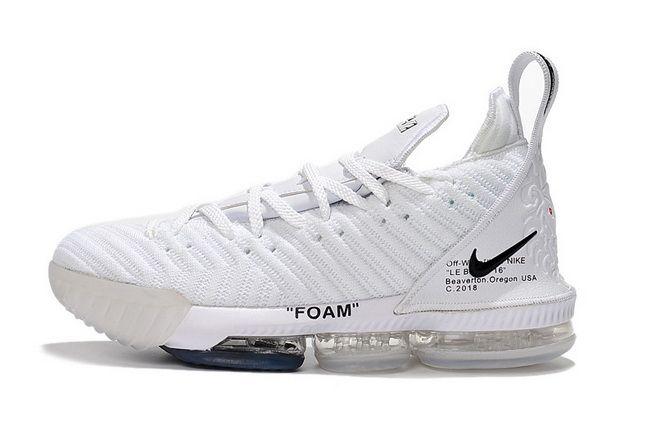 Off White x Nike LeBron 16 Lakers Mens Basketball Shoes