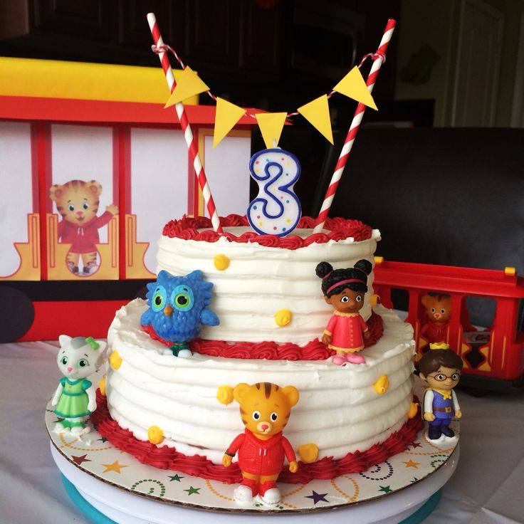 Daniel Tiger Birthday Cake                                                                                                                                                      More