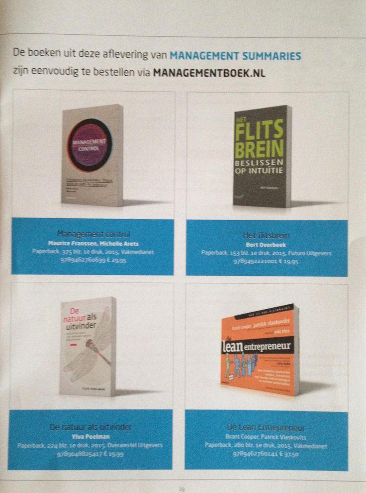 De boeken uit de Management Summaries van Managementboek zijn eenvoudig te bestellen.  Dus ook het boek Het Flitsbrein van Bert Overbeek, die mooi in de Management Summaries-uitgave aan bod is gekomen. #hetflitsbrein #bertoverbeek #futurouitgevers