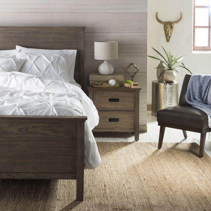 We love this woodsy bedroom.