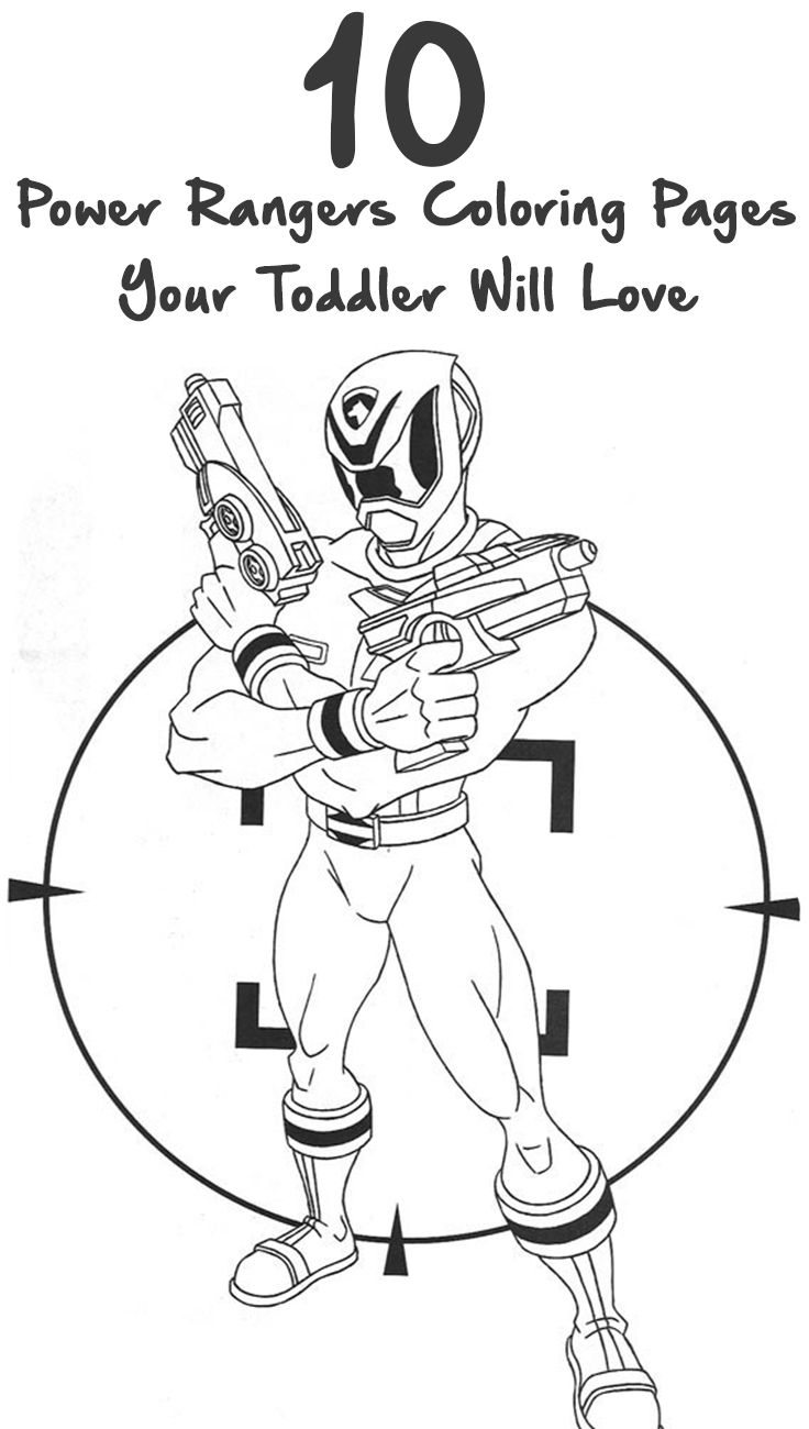 10 Exciting Power Rangers Coloring Pages Your Toddler Will Love