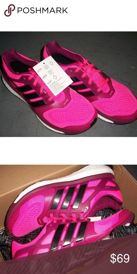 NEW women's adidas boost 2 running shoes- size 8 New adidas boost running shoes in pink, size 8. Never worn. Does not ship with the box. Retails for over $120 Adidas Shoes Athletic Shoes