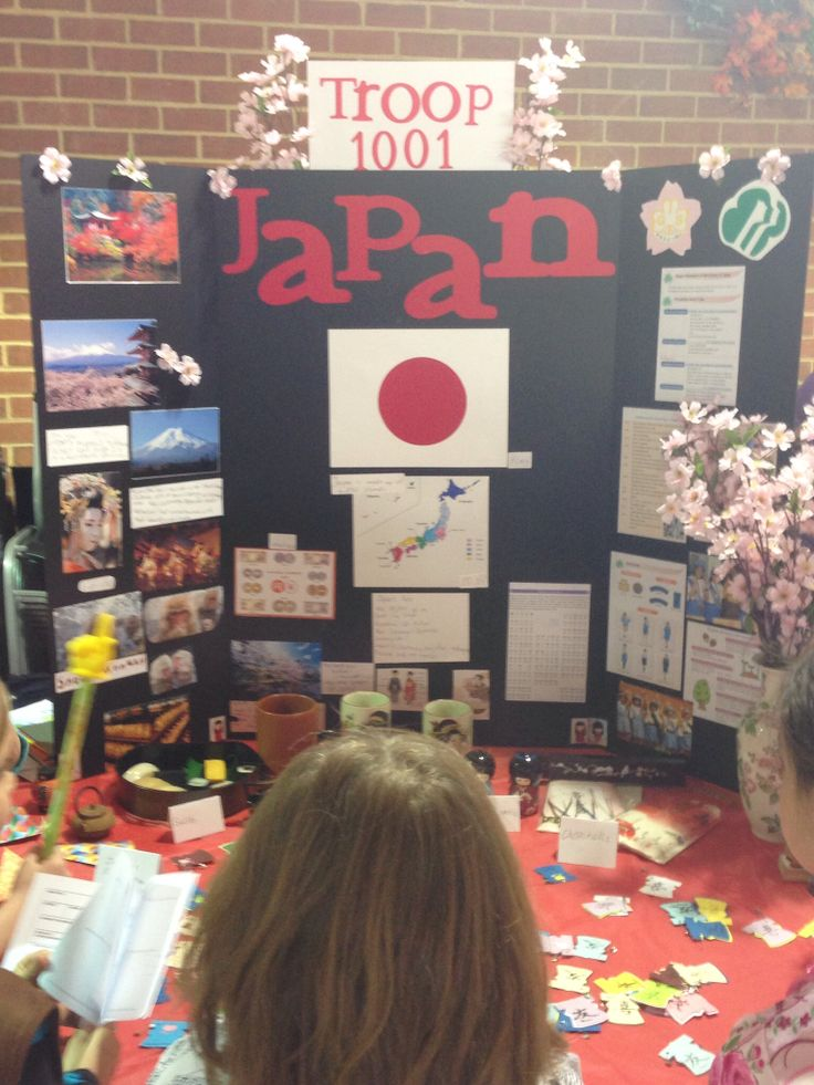 Our World Thinking Day display-Japan
