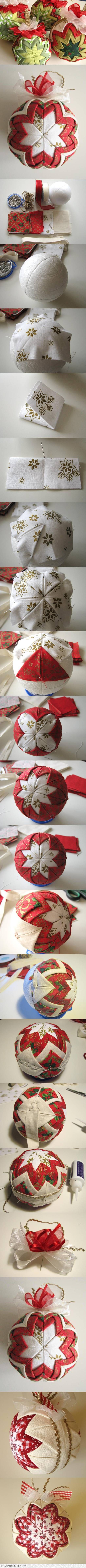 Diy Patchwork Ornament For Christmas