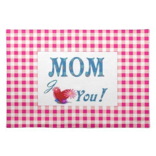 #Zazzle - Love You Mom Placemat by elena indolfi
