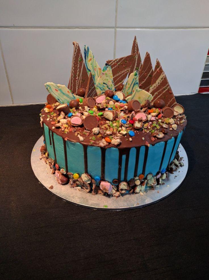 A lot of chocolate cake