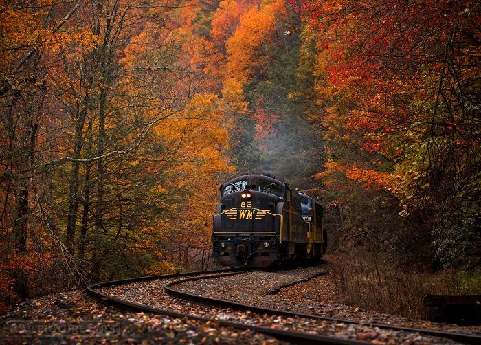 See a ghost town, a waterfall, ride two trains, and stay in a historic company house with this epic railroad trip.  Travel | West Virginia | Train Ride | Things To Do | Nature | Foliage