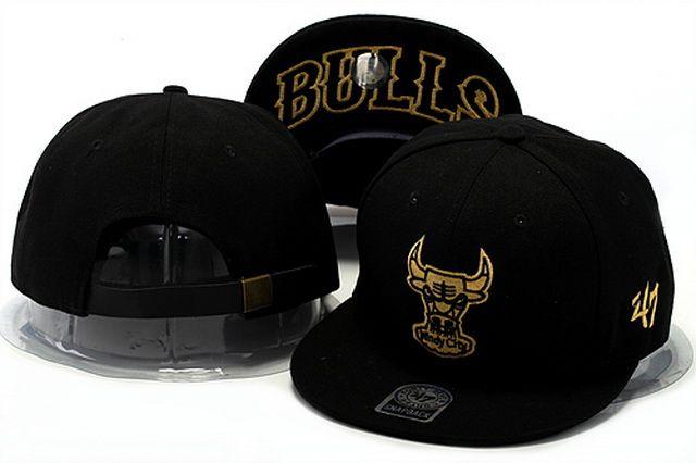 NBA Strapback Hats Chicago Bulls Hats 47Brand Strapback Hats Black 975