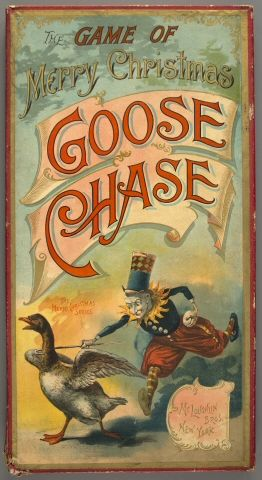 merry goose chase-creepy Christmas if you ask me!