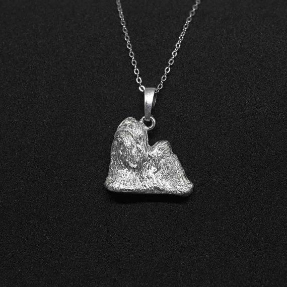 Shih tzu jewelry pendant by jewelledfriend. Explore more products on http://jewelledfriend.etsy.com