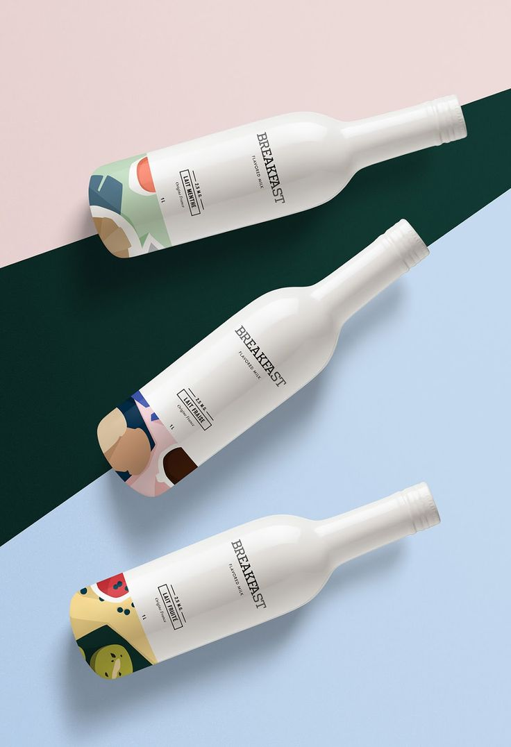BREAKFAST - Flavored Milk (Concept) on Packaging of the World - Creative Package…