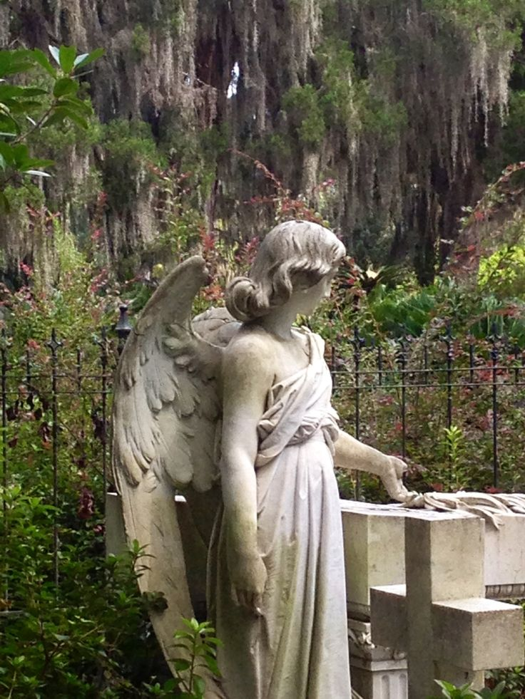"Angel in Bonaventure cemetery, Savannah GA☘️"" watching"". 10.2.2017"