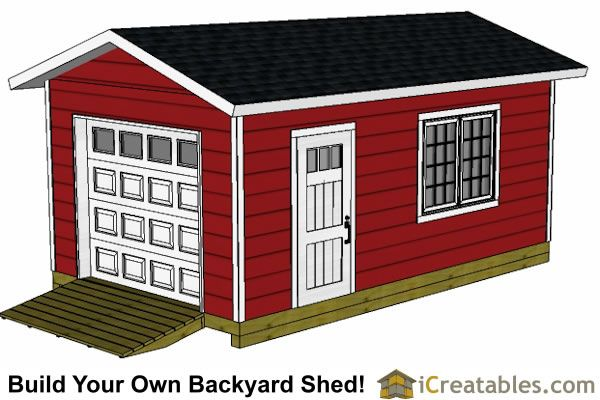 12x20 shed plans with garage door. Actual blueprints you can purchase.