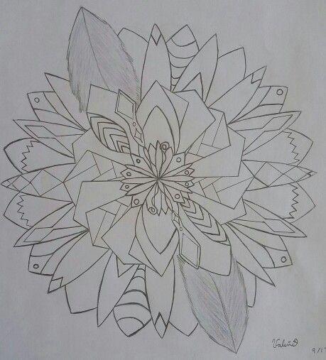 My first #mandala #Pattern #drawing