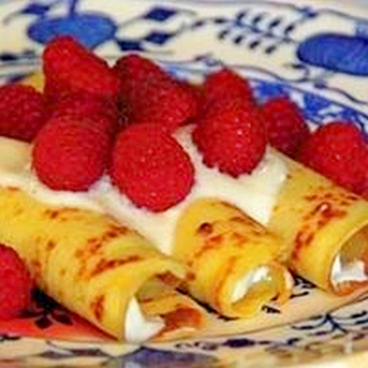 Recipes Cheese blintzes With Strawberry-Rhubarb compote, Not for the inexperienced cook, but a fun brunch item to watch and learn how.