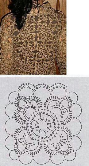 Motif Ganchillo Crochet Patrón Esquema Diagrama