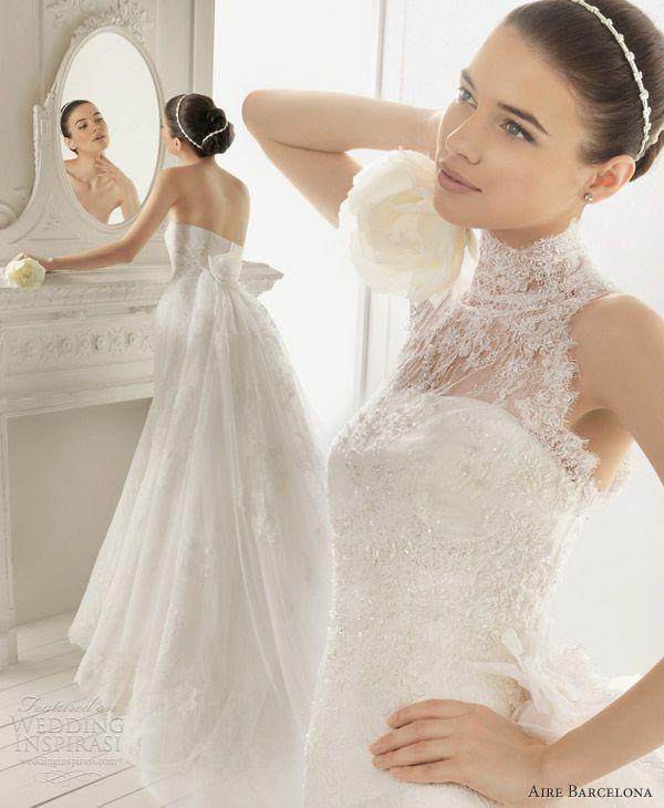 aire barcelona 2013 radley wedding dress train halter neck