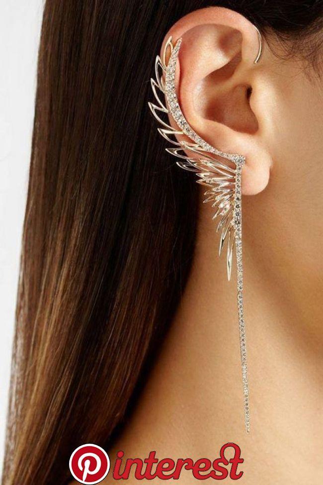 ad32ece6df82  Wings Winged ear cuff. I am not actually a fan of the long dangly  earrings