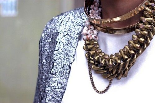 x: Gold Chains, Statement Necklaces, Bold Accessories, Street Style, Accessories Necessities, Layered Necklaces, Gold Necklaces, Heavy Metals, Chunky Necklaces