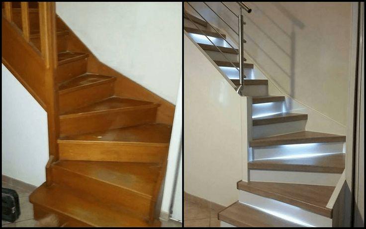 r nover un escalier peindre sans poncer interieur pinterest escaliers peindre et d co maison. Black Bedroom Furniture Sets. Home Design Ideas