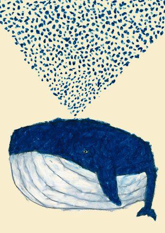 Yusuke Yonezu: Kindergarten Art Lessons, Art Paintings, Whales Illustrations, Cute Japanese Illustrations, Whales Art, Yusuk Yonezu, Nautical Design, Drawing, Blue Whales