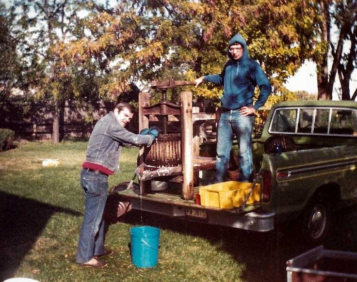 Do you recognize these young bucks?! We're starting off Washington Wine Month with a circa 1982 photo of Gordy & Myles when they first started making wine together as hobbyists! Pressing it old school in the back of a pick-up truck two years before Walla Walla got its AVA distinction and 13 years before WWV was bonded. That makes the upcoming 2014 Crush their 32nd together ... you've come a long way boys!!! #WaWine #WallaWalla