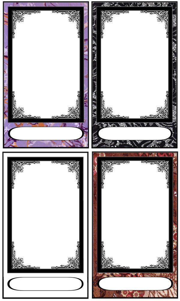 Tarot Card Templates By Fararden On Deviantart Tarot Cards Art Diy Tarot Cards Card Templates