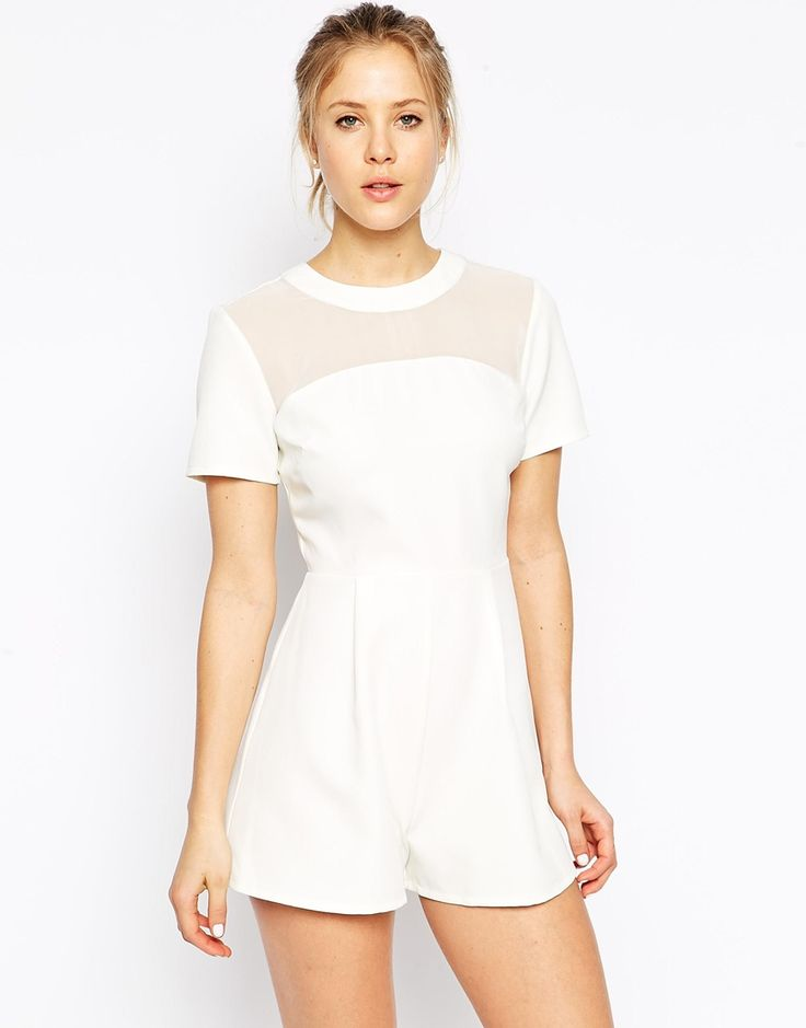 ASOS Playsuit with Sheer Panel
