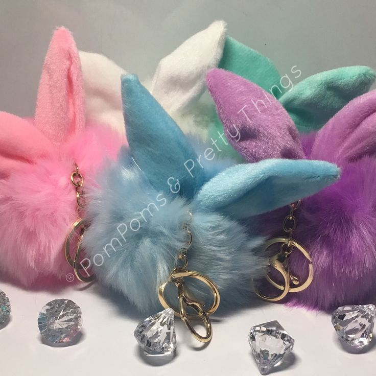 Fluffy PomPom Bunny Key Ring / Bag Charm   Shop this product here: http://spreesy.com/PomPomsandPrettyThings/6   Shop all of our products at http://spreesy.com/PomPomsandPrettyThings   Pinterest selling powered by Spreesy.com