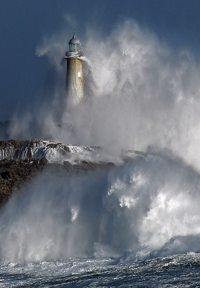 Lghthouse on Isla De Mouro, Spain, photograph by Lunada