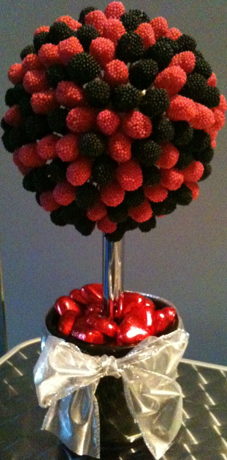 centerpieces?  with gumdrops in green, etc?