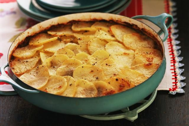 Creamy gluten-free scalloped potatoes make an economical yet elegant side dish, fit for special occasions and holiday menus.