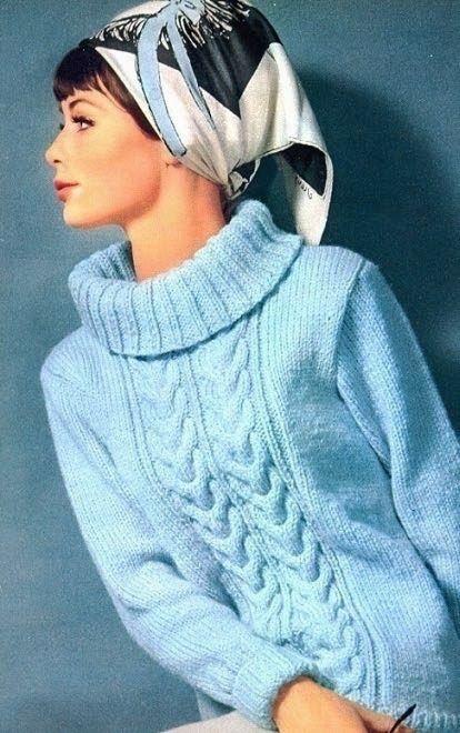1964 Headscarf inspiration, Burda Moden December 1964 Magdorable!