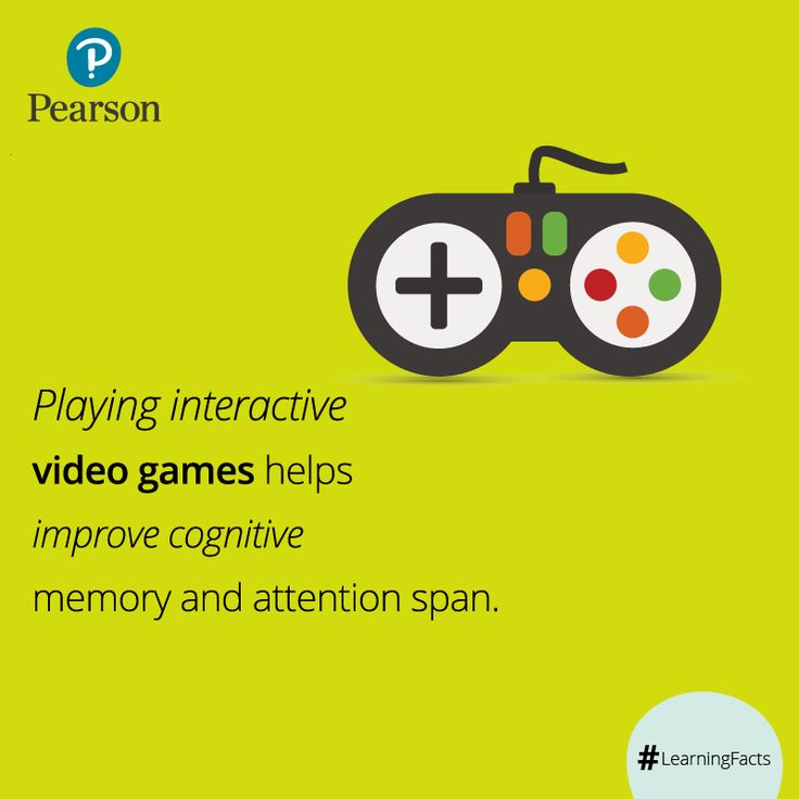 Video games can be a great way to help you improve memory. Immersive video games are better suited to provide an enriching experience that translates into functional gains keeping you cognitively engaged and active. ‪#‎LearningFacts‬