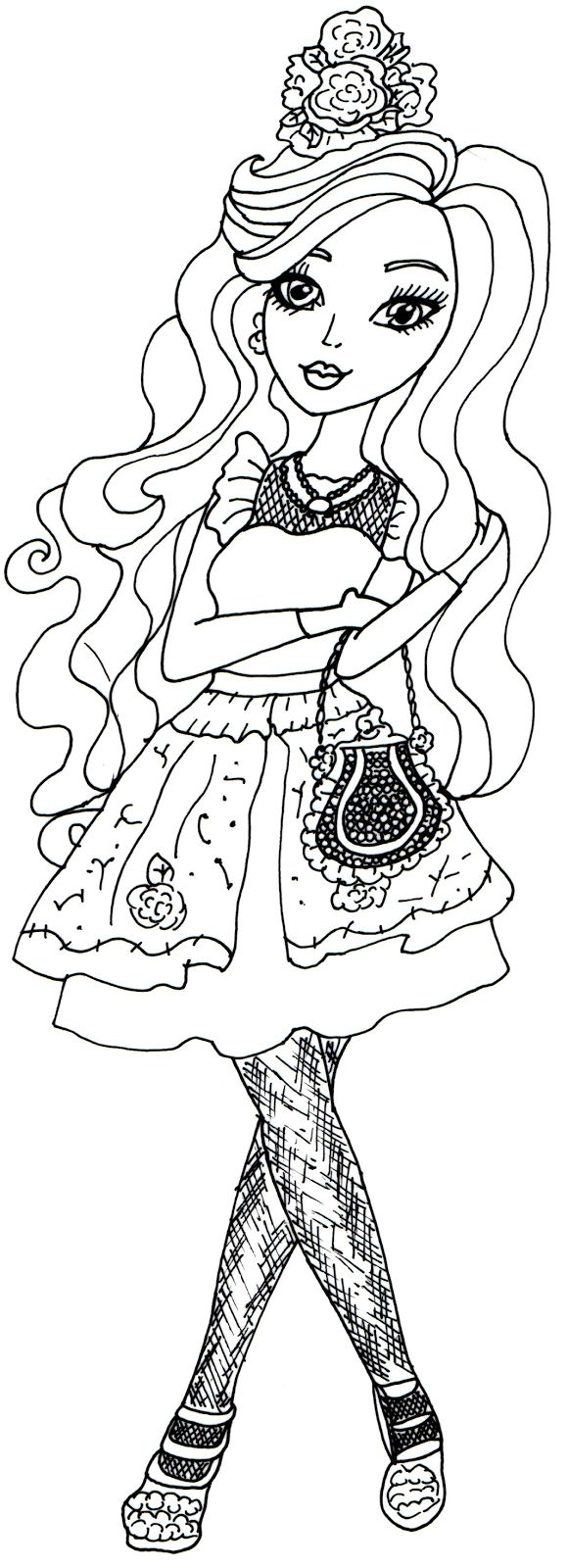 Ever After High Hat Tastic Coloring Page Briar