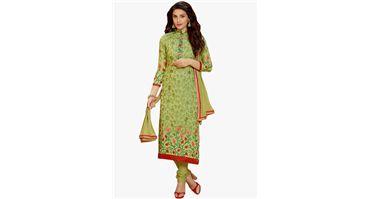 #Shonaya #Green #Embroidered #Dress #Material with 80% #Discount at #Jabong