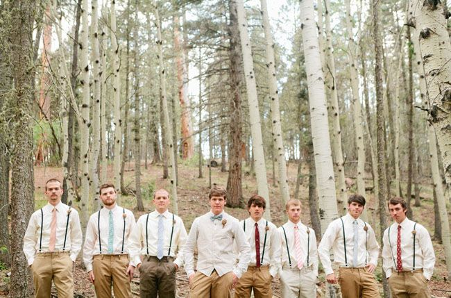 Groomsmen in suspenders - love!