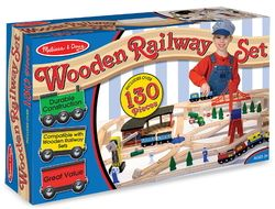 Melissa & Doug Wooden Railway Set $144.99 - from Well.ca