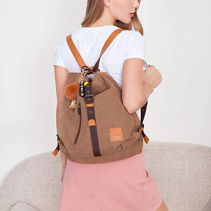 d90d129eb2a1 Amazon.com: Multifunctional Canvas Bag, JOSEKO Women Convertible ...