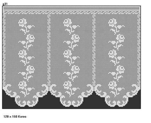 The curtain with tiny roses