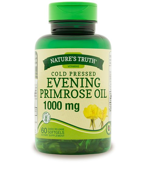 A natural source of the omega-6 fatty acid, GLA (Gamma Linolenic Acid), Nature's Truth® Evening Primrose Oil 1000 mg is an excellent way to promote women's health and soothe the discomforts of PMS.*
