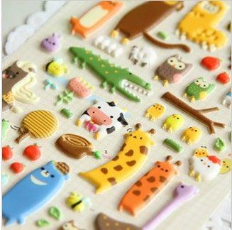 20 pcs/lot  Kawaii cartoon animal design Decoration Sticker For Kids Scrapbooking Diary Stickers(ss-1295)