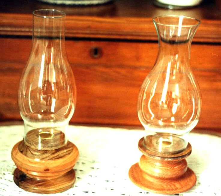 Hurricane candle lamps that I have been turning since 1999. These were stock for craft shows.