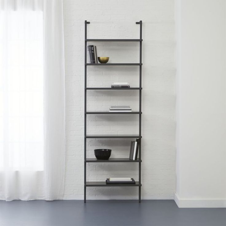 Stairway Grey 96 Quot Quot Wall Mounted Bookcase Grey Walls