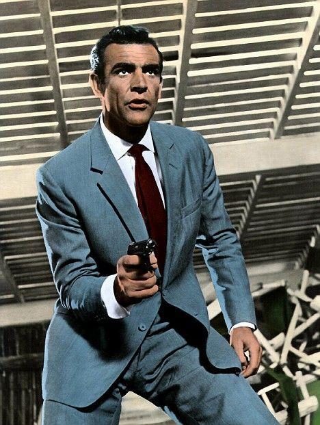 "Sean Connery as James Bond in ""Dr. No"" [1962]"