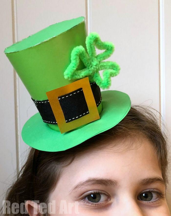 St Patrick S Day Hat Diy St Patricks Day Hat St Patricks Day