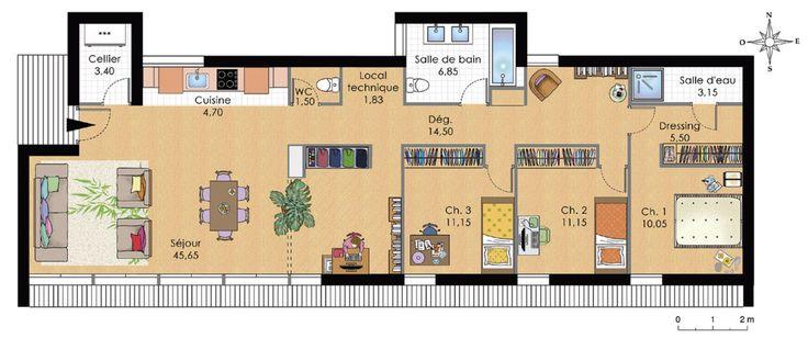 Partager via PinterestPartager via FacebookPartager via Google+Partager via Twitter Vous aimerez aussi Plan maison 4 chambres plain pied Architecture moderne : Plan maison moderne Plan maison moderne plain pied