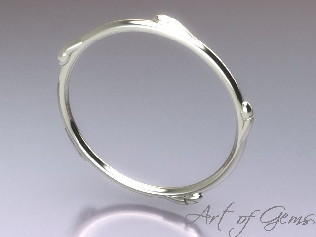 Pathways bangle, capturing the simple beauty of a spring twig in sterling silver #ArtofGems